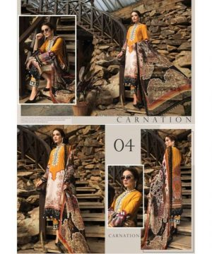 Afrozeh Sienna Lawn Collection_D 04_Carnation